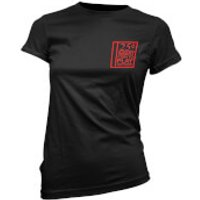 25cents Insert Coin To Play Womens Black T-Shirt - S