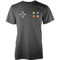 Gamer Pad Mens Charcoal T-Shirt - M