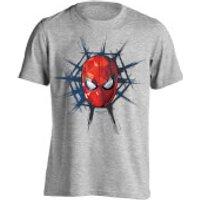 Marvel Spider-Man Mens Spider Web T-Shirt - Light Grey Marl - S