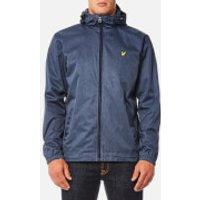 Lyle & Scott Mens Marl Zip Through Hooded Jacket - Ink Blue Marl - XXL