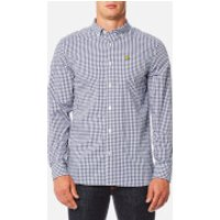 Lyle & Scott Mens Gingham Shirt - Navy - M
