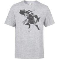 Nintendo Legend Of Zelda Link Mens Light Grey T-Shirt - M