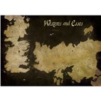 Game of Thrones Westeros and Essos Antique Map 85 x 120cm Canvas Print