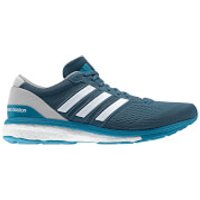 adidas Mens adizero Boston 6 Running Shoes - Blue/Grey - US 13.5/UK 12 - Blue/Grey
