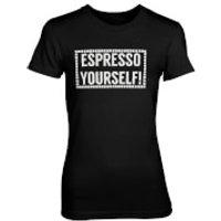 Espresso Yourself! Womens Black T-Shirt - XL