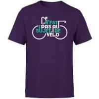 Ce Nest Pas Au Sujet De Velo Mens Purple T-Shirt - XL