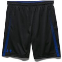 Under Armour Mens Tech Mesh Shorts - Black/Blue - XL - Black/Blue