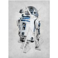 Star Wars Metal Poster - Star Wars Force Sensitive R2-D2 (68 x 48cm)