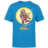 Valiant Comics Classic Archer and Armstrong Running Graphic T-Shirt - Blue - L - Blue