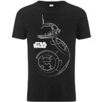 Star Wars Mens The Last Jedi BB-8 Stencil T-Shirt - Black - M - Black