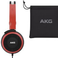 AKG Y30U Lightweight Foldable On-Ear Headphones with In-Line Microphone and Remote Control - Red