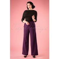 40s Stacey Trousers in Purple