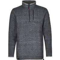 Weird Fish State 1/4 Zip Soft Knit Fleece Sweatshirt Carbon Size 3XL