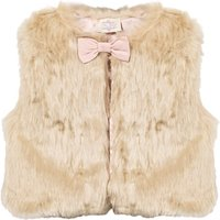 Oh...My! Faux Fur Gilet with Bow