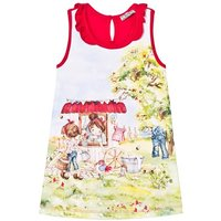 Red Cottage Girl Print Jersey Dress