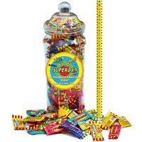 Its A Foot Of Sweets! Jumbo Personalised Selection Jar Of Classic Chew Bars To Chomp on