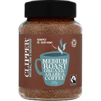 Clipper Fairtrade Organic Instant Coffee Medium Roast Arabica