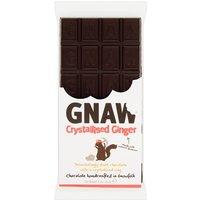 Gnaw Crystallised Ginger Dark Chocolate Bar