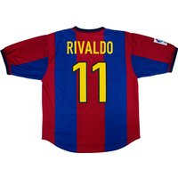 1998-00 Barcelona Home Shirt Rivaldo #11 (Very Good) XL