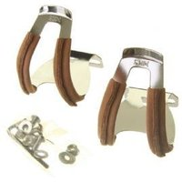 Mks Half Toe Clip Deep Section With Leather