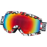 Dirty Dog Elevator Snow Goggles White/red/black Grey Black Fusion Mir Polarised