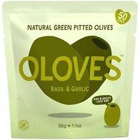 Oloves Basil & Garlic Natural Green Pitted Olives 30g