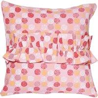 Ruffle Dotty Cushion