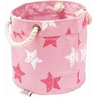 Vintage Star Pink/White Round Storage Box – Small