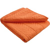 Quilted Microfibre Throw – Orange