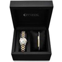 Citizen EU2664-56D SET Two Tone Stone Set Watch And Bangle Gift Set - W9117