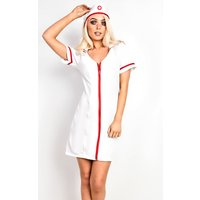 IKRUSH Womens Nurse Fancy Halloween Dress