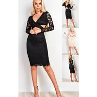 IKRUSH Womens Faith Lace Cut Out Bodycon Dress