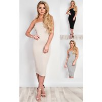 IKRUSH Womens Jolana Bandeau Basic Bodycon Dress