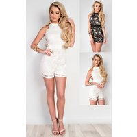 IKRUSH Womens Logan Lace Playsuit