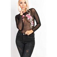 IKRUSH Womens Vanessa Mesh Floral Bodysuit