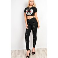 IKRUSH Womens Cydney Lace Up Crop Top