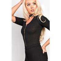 IKRUSH Womens Remi Choker Ribbed Bodysuit