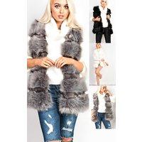 IKRUSH Womens Orla Faux Fur Gilet