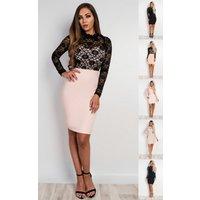 IKRUSH Womens Viviana Lace Bodycon Dress
