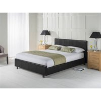 Snuggle Beds Vogue Black 4' Small Double Leather Bed