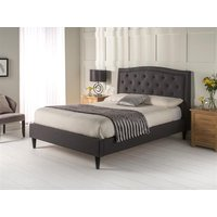 Snuggle Beds Charlotte Charcoal 5' King Size Fabric Bed