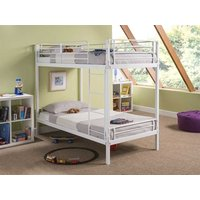 Snuggle Beds Harley White 3' Single White Bunk Bed