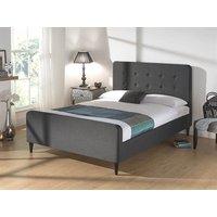 Snuggle Beds Sienna Dark Grey 5' King Size Dark Grey Fabric Bed