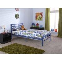 GFW Morgan Blue 3' Single Blue Metal Metal Bed