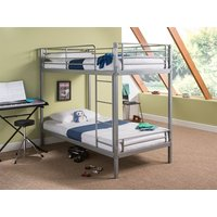 Snuggle Beds Harley Silver 3' Single Silver Bunk Bed
