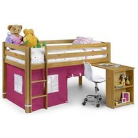 Julian Bowen Wendy Sleeeper (With Curtains) Pink 3' Single Natural Cabin Bed