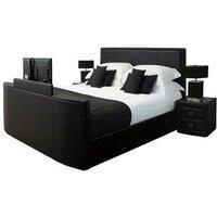 TV Bed Ltd New York TV Bed in Black 6' Super King Black TV Bed