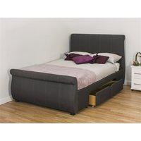 Snuggle Beds Alabama Fabric - Dark Grey 6' Super King Fabric Bed