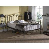 Bentley Designs Chloe 4' Small Double Black Metal Bed