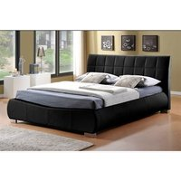 Limelight Dorado Black 5' King Size Black Leather Bed